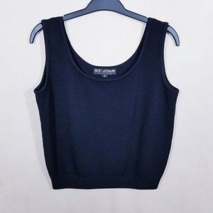 St. John Basics Black Cropped Tank Top - Size M